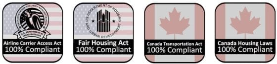 US Law and Canada Law Compliance for Emotional Support Animal Service Dog Therapy Animal