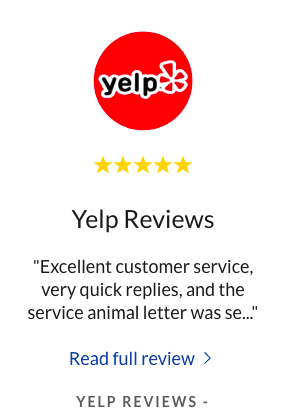 YELP Reviews for ESApet.org or TheraPetic